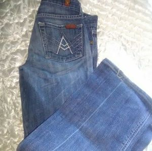 7 for all mankind flare jeans size 24